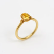 Handmade Gold Ring with Natural Fancy Yellow Diamond - Jean Scott Moncrieff Gold Ring Yellow Diamond The Garnered