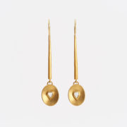 Handmade Gold Drop Earrings with 'Macle' Diamonds - Jean Scott Moncrieff Macle Diamond Earrings The Garnered