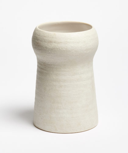 The Garnered - Large White Stupa Vase Kathy Erteman Ceramics The Garnered 6