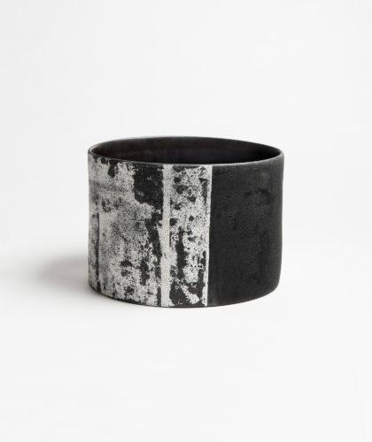 The Garnered - Monoprint Drum Vessel Kathy Erteman Ceramics The Garnered 66Rev02