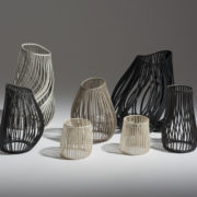 Medium Charcoal Lines Vessel #2 - Lauren Nauman Ceramics The Garnered Group
