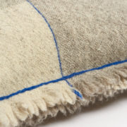 Acacallis Handmade Pocket Cushion - Maria Sigma Blue Stripe Cushion Detail The Garnered