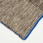 Phaedra Hand-Woven Wool Throw with Marine Blue Detail  - Phaedra V2 Throw Maria Sigma Textiles The Garnered 2