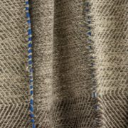 Phaedra Hand-Woven Wool Throw with Marine Blue Detail  - Phaedra V2 Throw Maria Sigma Textiles The Garnered 4