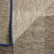 Phaedra Hand-Woven Wool Throw with Marine Blue Detail  - Phaedra V2 Throw Maria Sigma Textiles The Garnered 6