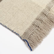 Xenodice Hand-Woven Wool Throw with Marine Blue Detail - Xenodice Throw Maria Sigma Textiles The Garnered 27
