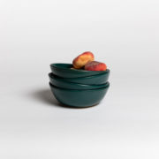 Set of 4 Forest Green Hand-Thrown Ceramic Bowls - Dark Green Bowl 4 Marion Graux Ceramics The Garnered 036