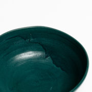 Set of 4 Forest Green Hand-Thrown Ceramic Bowls - Dark Green Bowl Detail Marion Graux Ceramics The Garnered 070