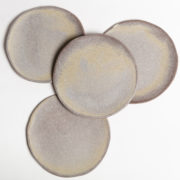 Set of 4 Cendre Hand-Thrown Ceramic Dessert Plates - Natural Small Plate Group Marion Graux Ceramics The Garnered 078