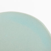 Set of 4 Celadon Hand-Thrown Ceramic Dessert Plates - Turquoise Small Plate Detail Marion Graux Ceramics The Garnered 088