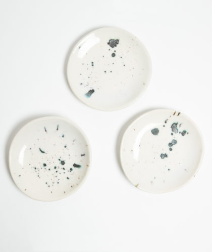 The Garnered - 3 Splash Plates Marion Graux Ceramics The Garnered 001