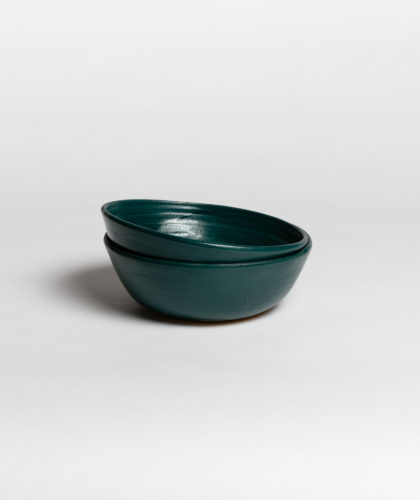 The Garnered - Dark Green Bowl 2 Marion Graux Ceramics The Garnered 037