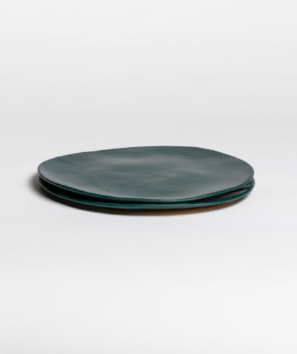 The Garnered - Dark Green Large Plate 2 Marion Graux Ceramics The Garnered 052