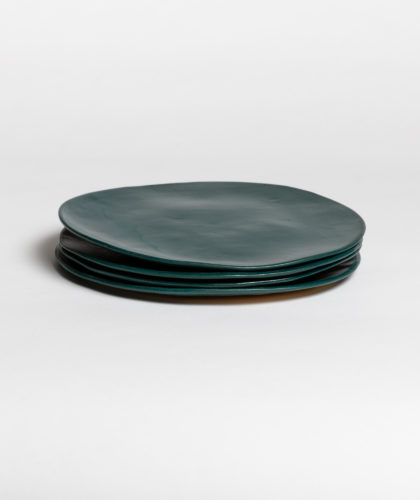 The Garnered - Dark Green Large Plate 4 Marion Graux Ceramics The Garnered 049