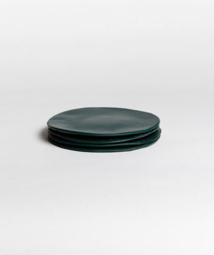 The Garnered - Dark Green Plate Small 4 Marion Graux Ceramics The Garnered 017