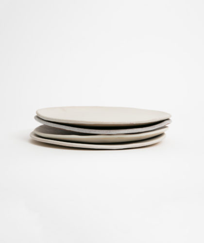 The Garnered - Four Plates Marion Graux Ceramics The Garnered
