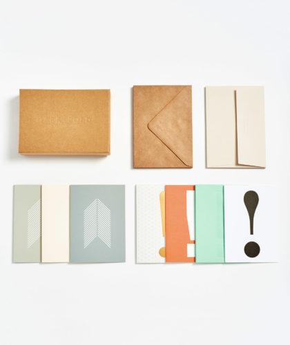 The Garnered - Assorted Card Box Mark And Fold Stationery The Garnered Grid