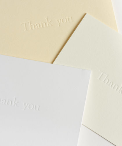 The Garnered - Thank You Cards Box Mark And Fold Stationery The Garnered 63