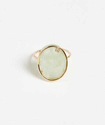 The Garnered - Aquamarine Derive Ring Mary Macgill Jewellery The Garnered 5