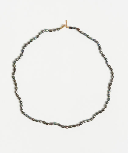 The Garnered - Black Seed Pearl Necklace Mary Macgill Jewellery The Garnered 11