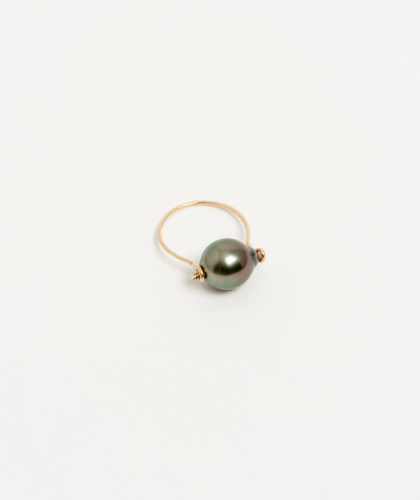 The Garnered - Gold Black Tahitian Pearl Ring Mary Macgill Jewellery The Garnered 20