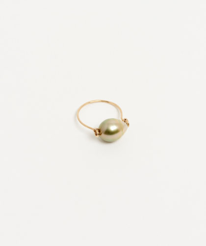 The Garnered - Gold Golden Tahitian Pearl Ring Mary Macgill Jewellery The Garnered 23