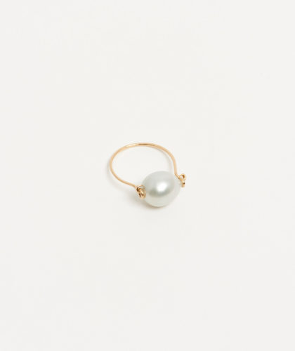 The Garnered - Gold Silver Tahitian Pearl Ring Mary Macgill Jewellery The Garnered 26