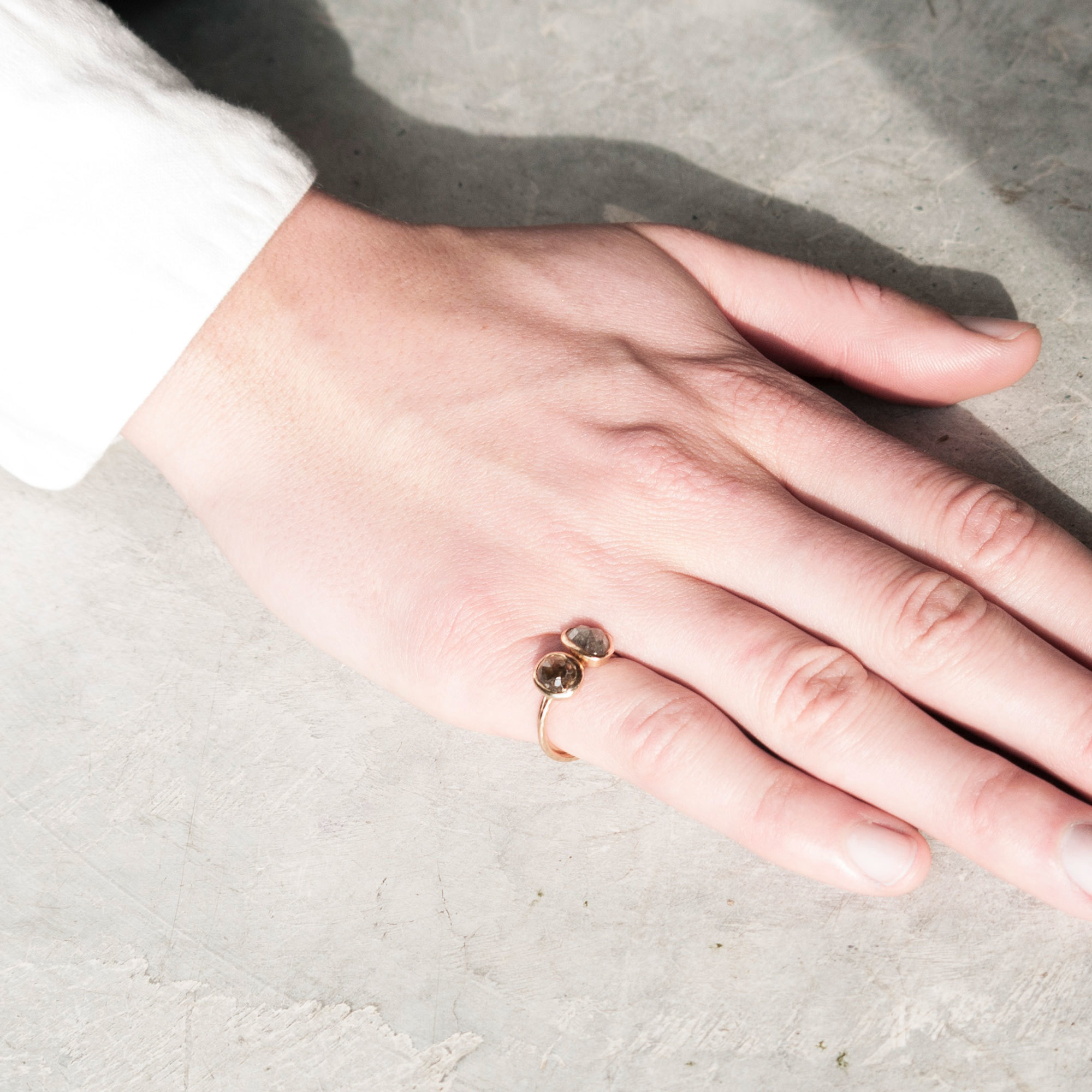 14K Cognac Diamond One-of-a-Kind Ring | The Garnered