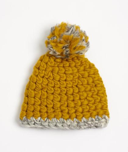 Pohawk Midnight Hand Crocheted Merino Wool Hat The Garnered