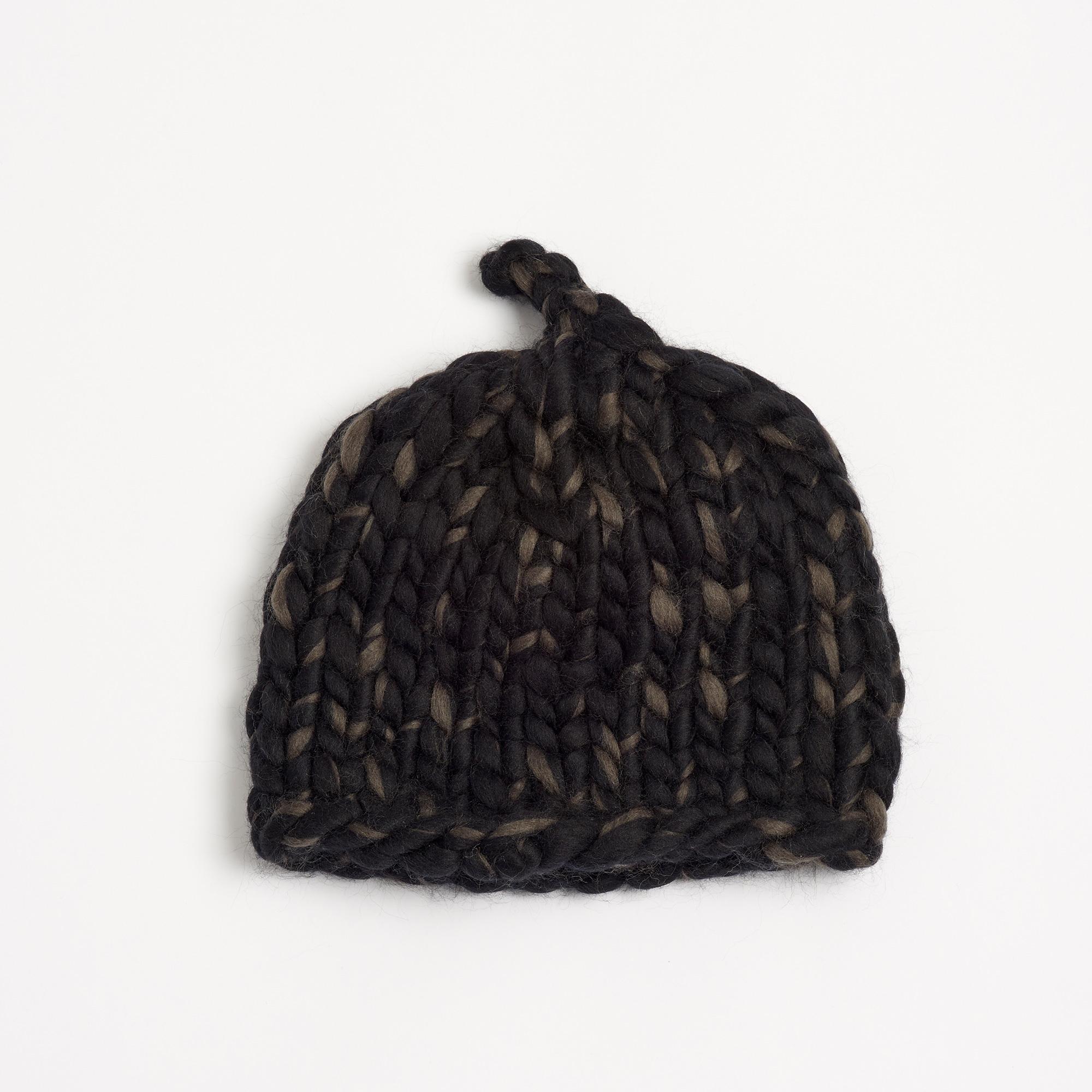 2c61d69baa85a Large Merino Wool Beanie - Parchment N Lead
