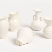 Set of Decorative Miniature Ceramic Urns - Object Totem Set Minature Ceramic Urns The Garnered 2