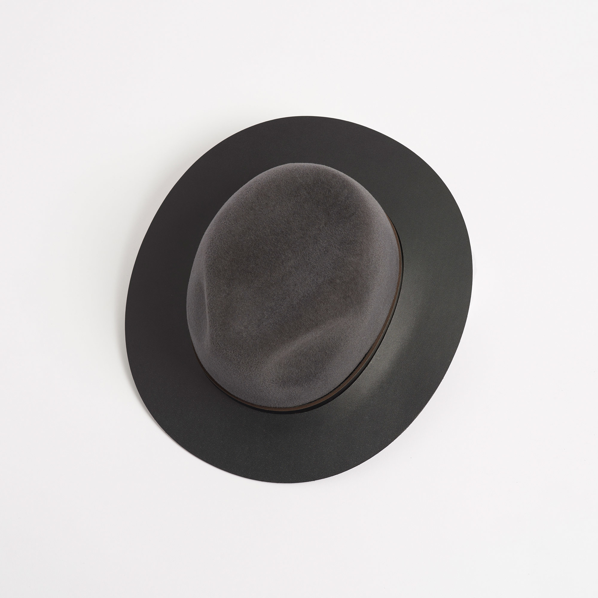 20bada218 Chelsea Trilby Hat with Leather Brim - S / / - Chelsea Trilby Hat with  Leather Brim
