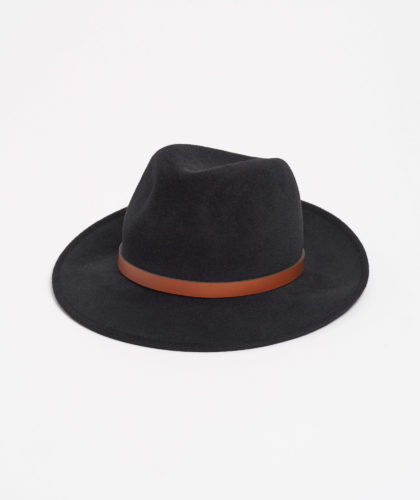 The Garnered - Black Trilby With Leather Trim Paul Stafford The Garnered5