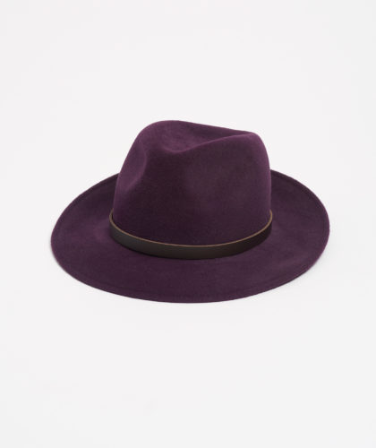 The Garnered - Purple Trilby With Leather Trim Paul Stafford The Garnered 3
