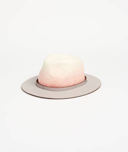 The Garnered - Chelsea Panama Straw Ombre Paul Stafford The Season Hats The Garnered 1