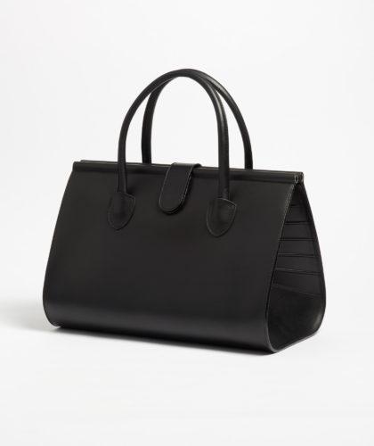 The Garnered - Peau De Chagrin Black Leather Bag The Garnered 2