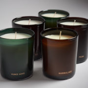 Scented Candle in Hand-Blown Vessel - Humid Wood - Perfumer H Candles The Garnered Group Close