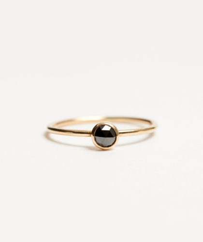 The Garnered - Gold Black Diamond Ring Rebecca Peacock Jewellery The Garnered 23