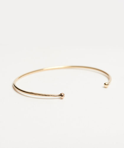 The Garnered - Gold Cuff Bracelet Rebecca Peacock Jewellery The Garnered 12