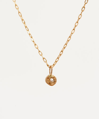 The Garnered - Gold Pearl Pendant Necklace Rebecca Peacock Jewellery The Garnered 14
