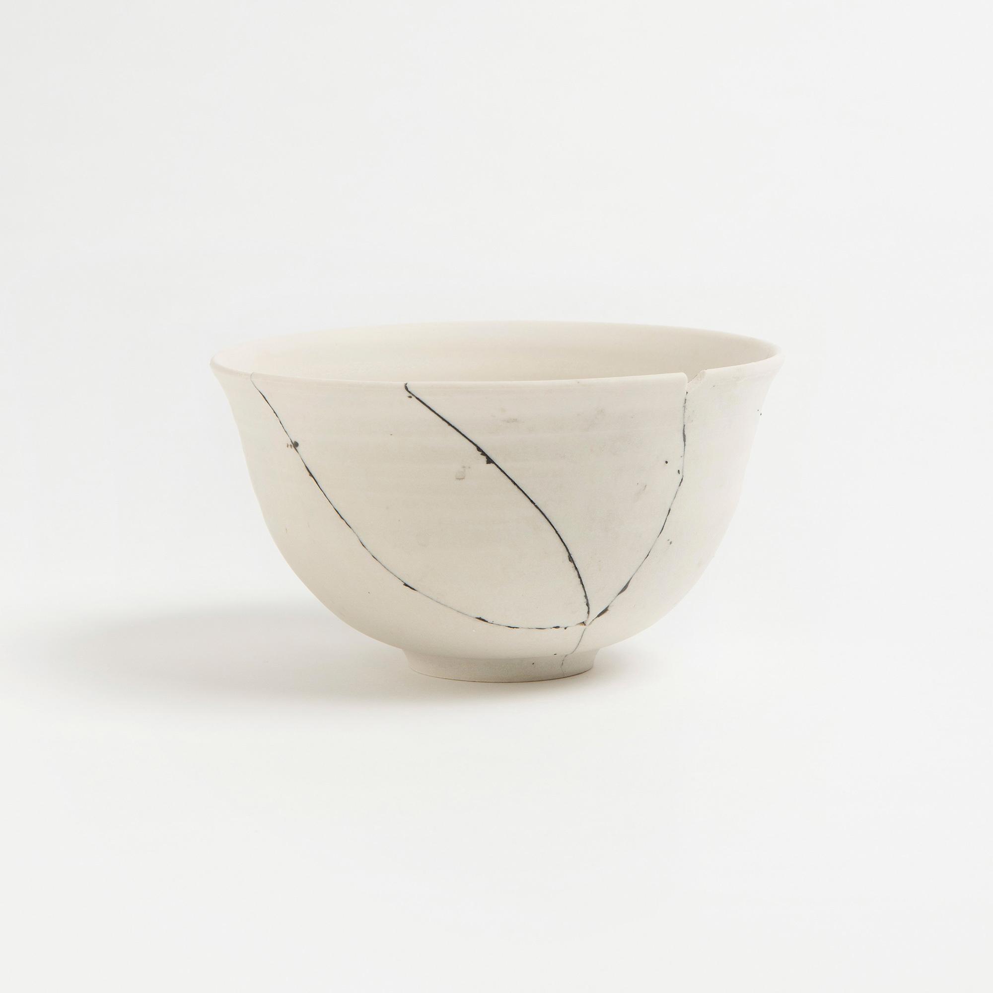2 Unique Piece & White Fracture Bowl No. 2 Unique Piece | The Garnered