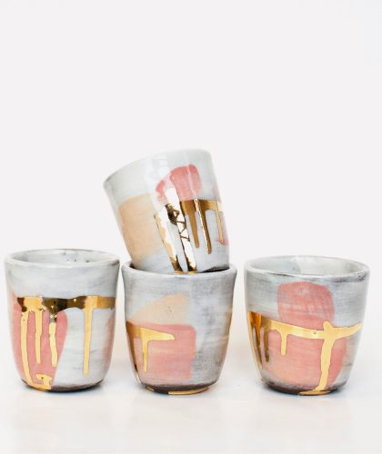 The Garnered - 22 Karat Climax Cups Romy Northover Ceramics The Garnered