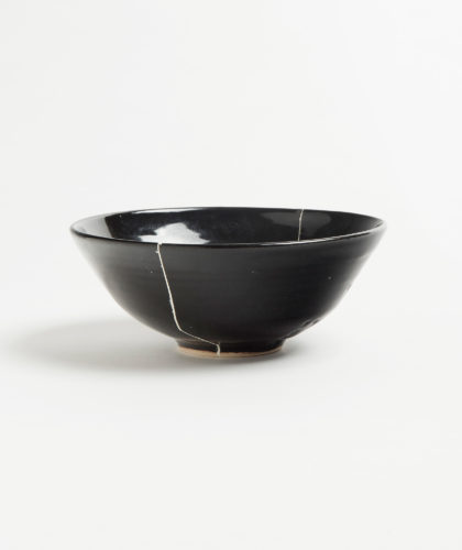 The Garnered - Black Fracture 2 Series Bowl Romy Northover Ceramics The Garnered 2