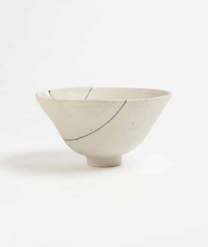 The Garnered - White Fracture 1 Series Bowl Romy Northover Ceramics The Garnered 2