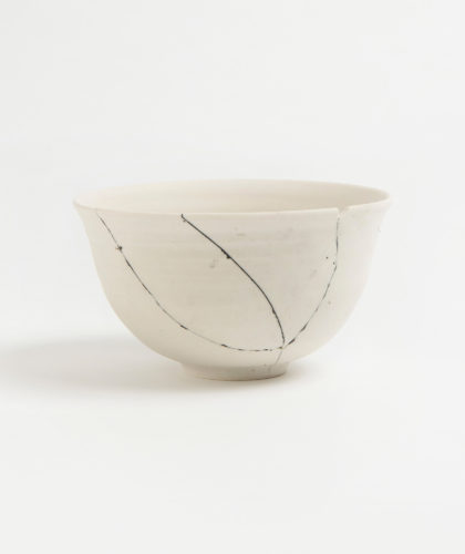 The Garnered - White Fracture 2 Series Bowl Romy Northover Ceramics The Garnered 2