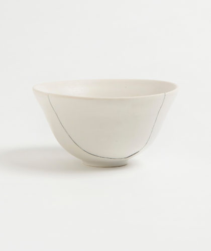 The Garnered - White Fracture 3 Series Bowl Romy Northover Ceramics The Garnered 2