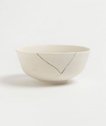 The Garnered - White Fracture 4 Series Bowl Romy Northover Ceramics The Garnered 2