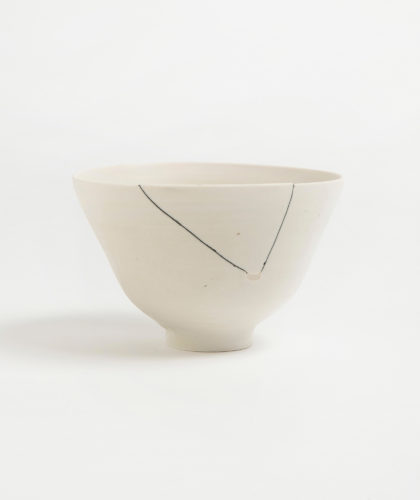 The Garnered - White Fracture 5 Series Bowl Romy Northover Ceramics The Garnered 3