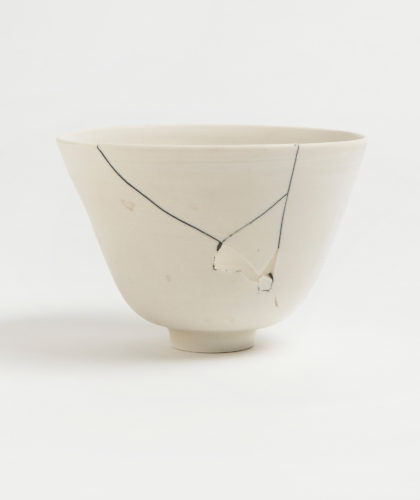 The Garnered - White Fracture 6 Series Bowl Romy Northover Ceramics The Garnered 2