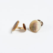 Grey Mother-of-Pearl 'Fabric' Cufflinks - Samuel Gassmann Fabric Mother Of Pearl Cufflinks The Garnered